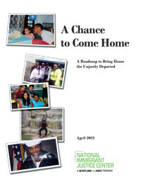 "Cover of NIJC's white paper ""A Chance to Come Home"""