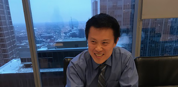Peter Cheun in his office