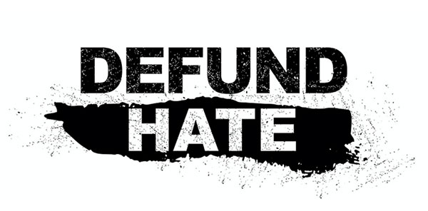 Defund Hate campaign logo