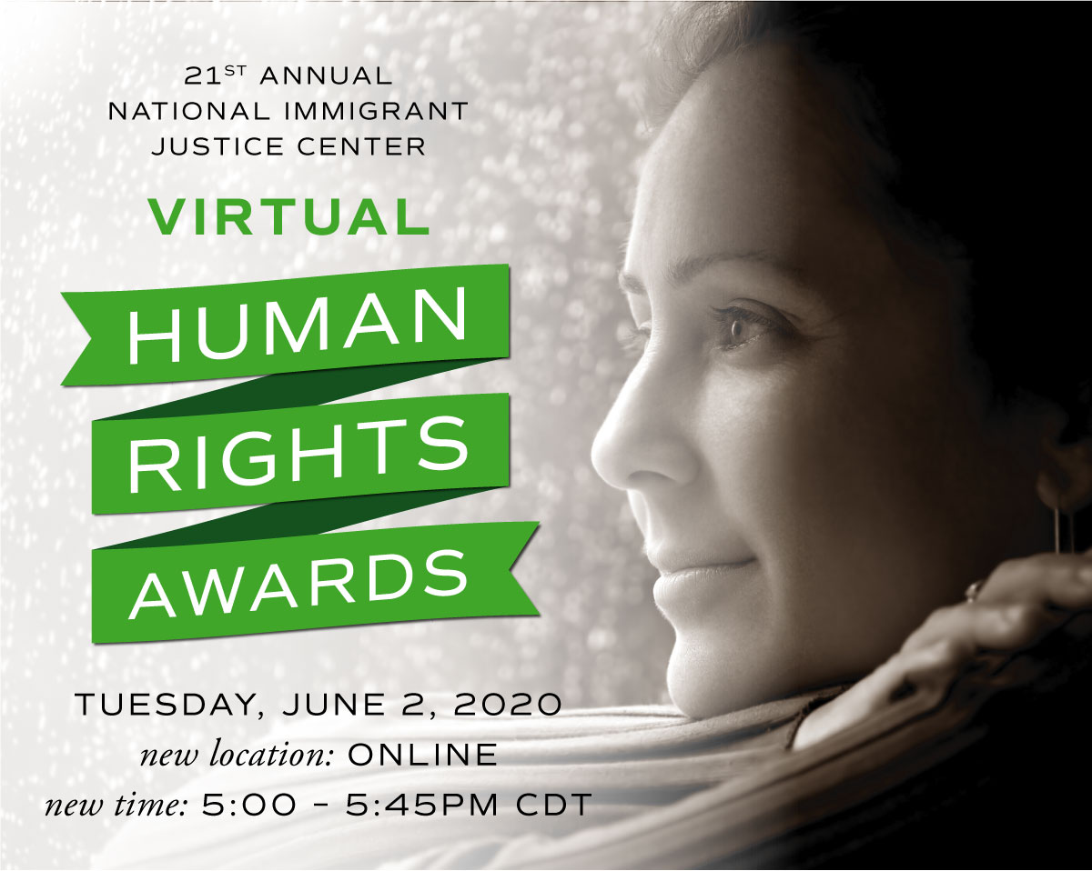 Graphic of invitation for Human Rights Awards