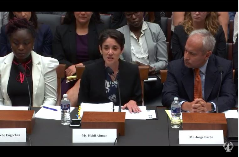 Photo of NIJC Policy Director testifying before House Judiciary Committee