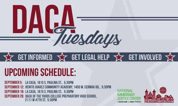 DACA Tuesday Full Schedule Graphic