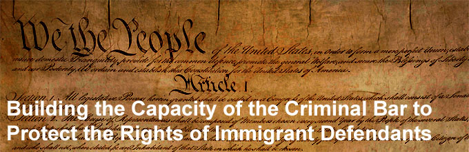 Building the Capacity of the Criminal Bar to Protect the Rights of Immigrants
