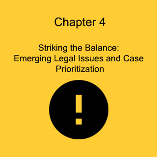 Chapter 4: Emerging Legal Issues and Case Prioritization